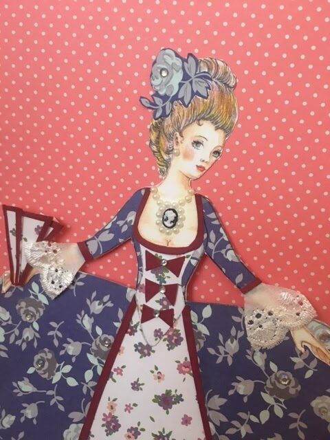 An Image of Ophelia as a paper doll
